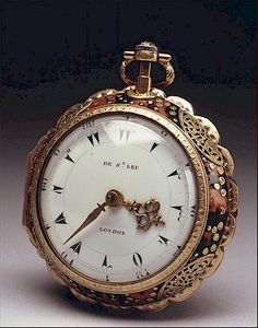 French Huguenot Emigre Daniel de St Leu (active 1753-97) produced some of the most exquisite and elaborate watches of the 18th C Gaining royal favour he was appointed to Queen Charlotte, wife of King George III in 1765 & held this title for the rest of his life since all his watches after this date are either signed 'Sevt. to her Majesty', or 'Watch Maker to her Majesty'. He was also one of a surprisingly large number of London watch makers to cater for wealthy Turkish customers