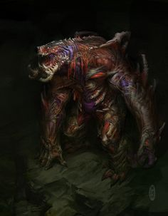 artificial monster, Herman Ng on ArtStation at https://www.artstation.com/artwork/BarRl