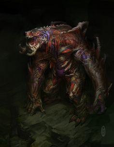 artificial monster, Herman Ng on ArtStation at https://www.artstation.com/artwork/BarRl