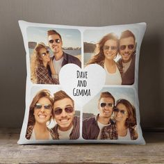 Heart Collage Cushion (White) Fast Delivery, Buy Now. 1st Wedding Anniversary Gift, Personalized Anniversary Gifts, Anniversary Gift For Her, Faux Suede Fabric, Unique Presents, Couple Gifts, How To Memorize Things, Photo Gifts, Boutique Shop