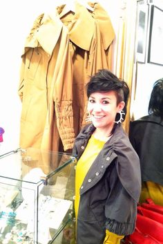 Michelle stops by the boutique.  #ProjectRunway @Michelle Lesniak Franklin