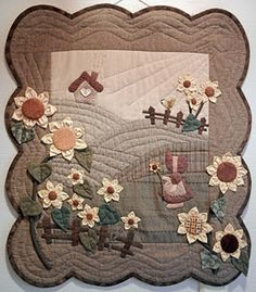 Use as inspiration for wallhanging to make in class? paper piece, applique, embellish, free motion quilt?