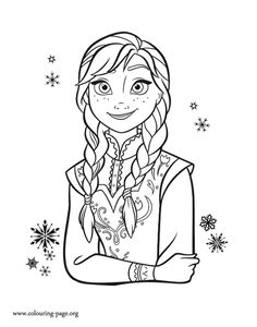 What about to print and color this amazing picture of Princess Anna? Just print it out and have fun with this free Disney Frozen coloring sheet!
