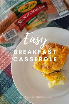AD A filling breakfast without slaving over the stove! Breakfast Plate, Breakfast Casserole Sausage, What's For Breakfast, Breakfast Recipes, Snack Recipes, Good Food, Yummy Food, Delicious Recipes, Attachment Parenting