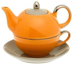 Sip tea in this high quality porcelain tea set made for one. 14-Ounce capacity.