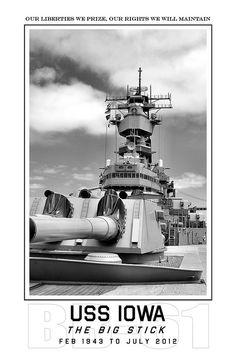 USS Iowa BB-61 | by blackheartart