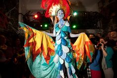 Earth Celebrations--Direct Fashion Show at the Museum of Reclaimed Urban Space. LES, NYC. Sky costume. Photo by Brian D. Caron.