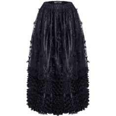 KW093 Gothic long skirt with budding flowers lace (46 CAD) ❤ liked on Polyvore featuring skirts, gothic lolita skirt, blue maxi skirt, lace skirt, long blue skirt and blue lace skirt