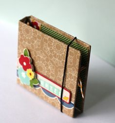 Note Holder!  Such a cute idea for a simple gift!