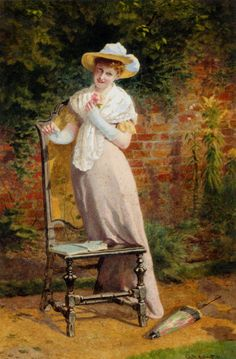 Carlton Alfred Smith (Carlton Alfred Smith) (1853-1946)  In The Garden  Watercolour