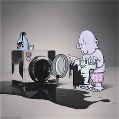 Lucas Levitan - creator of the Photo Invasion project - Part 31 Lucas Levitan, Creative Photos, Illustrators, Projects To Try, Artsy, Snoopy, Cartoon, Drawings, Artwork