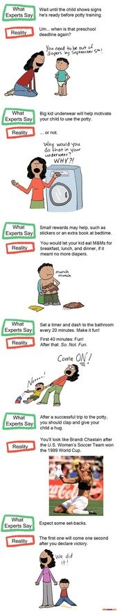 Potty Training: What the Experts Say vs. What Actually Happens in Real Life | More LOLs  Funny Stuff for Moms | NickMom