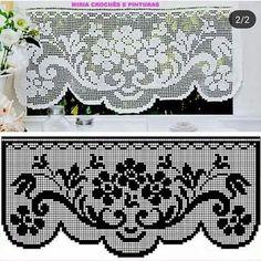 Elegant Filet Crochet Tablecloth For Mod - Diy Crafts - DIY & Crafts Crochet Patterns Filet, Crochet Lace Edging, Crochet Borders, Crochet Diagram, Thread Crochet, Crochet Designs, Crochet Doilies, Easy Crochet, Crochet Stitches