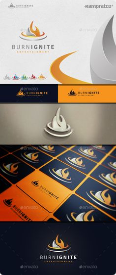 Burn Ignite  Logo Design Template Vector #logotype Download it here: http://graphicriver.net/item/burn-ignite-logo/10525654?s_rank=1356?ref=nexion