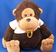 Searching – 80s DAKIN XL BABY MONKEY with PACIFIER Wearing DIAPER & DIAPER SHIRT Brown Babies, Monkey, Plush, Teddy Bear, Searching, Cute, Baby, Shirts, Posts