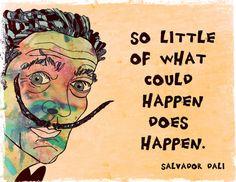 Salvador DaliQuotation Art Print by 5orSixTalents on Etsy