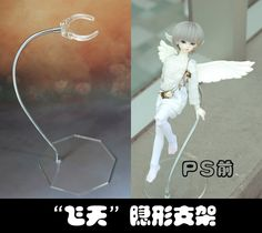 """Articulated """"flying"""" doll stand - extra clamps & arms also available"""