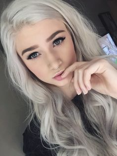 My hair is turning silver tight