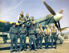 Warbirds — bmashina: The pilots of 257 squadron near one of...