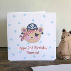 personalised pirate card by moobaacluck   notonthehighstreet.com