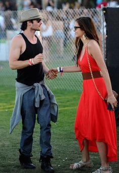 Nina Dobrev and Ian Somerhalder 2012 Coachella Music Festival, I LOVE VAMPIRE DIARIES!lol