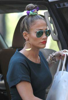 Jennifer Lopez Stacked Bracelets
