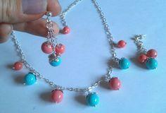 Bijoux acrilic pearls colour earrings necklace jewelry fashion pretty shine handmade  Valeria Igliozzi gioielli
