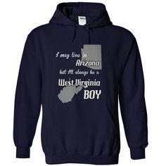 Arizona West Virginia boy Fun T-Shirts, Hoodies. CHECK PRICE ==► https://www.sunfrog.com/States/Arizona--West-Virginia-boy-Fun--NavyBlue-Hoodie.html?id=41382