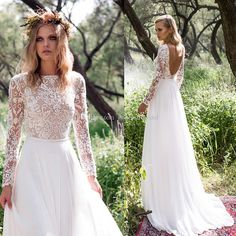 2016 Long Sleeves Country Wedding Dresses Sexy Scoop Back Bateau Neckline Heavily Embellished Bodice Lace A Line Tulle Skirt Sweep Train Ball Gown Wedding Dresses Casual Wedding Dresses From Gonewithwind, $170.86  Dhgate.Com