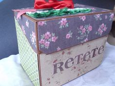 recipe box Recipe Box, Toy Chest, Decorative Boxes, Scrapbooking, Toys, Storage, Home Decor, Activity Toys, Purse Storage