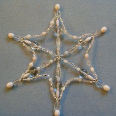 beaded snowflake form
