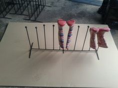 5 pair metal wellington boot rack / riding boot rack / boot storage