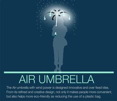 Air Umbrella by Je Sung Park » Yanko Design  How cool is this? Wish I lived somewhere that it actually rained more than 5 or 10 days a year so I could use this!