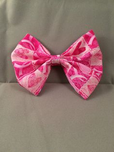 Breast cancer awareness bow bow clip pink bow by Kerrynscoasters