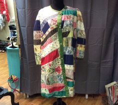 1960's Handmade Patchwork Lined Coat GOTTA by LisaLaRueRetroActive, $72.95