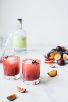Spiced Plum, Fig & Kombucha Cocktail by The Green Life