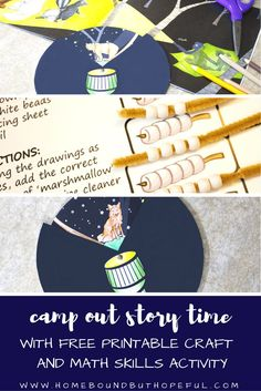 Camp Out   Camping   Story Time   Children's Literature   Picture Books   Reading Extensions   Kid Lit Art   Early Math   Free Printables Creative Activities, Creative Teaching, Craft Activities For Kids, Book Activities, Activity Ideas, Crafts For Kids, Early Math, Early Learning, Kids Learning