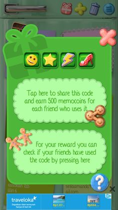 Use my memocool code n we both will get 500 memocoins.. Memocool is a cute, fun n cool memo apps.. I actually use it for a year n don't plan to uninstall it..