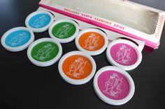 Vintage Coasters NIP Eight Colorful Party by RaindropVintageShop