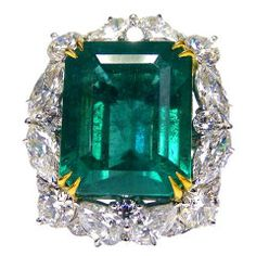 Natural GIA Certified Emerald Ring