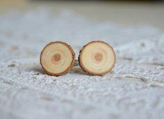 Big wooden cuff links natural wood statement cuff by MyPieceOfWood