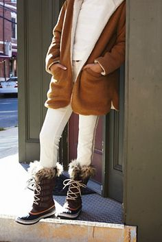 Joan Arctic Weather Boot | Free People Faux fur-trimmed snow boots with waterproof full-grain leather and suede uppers.