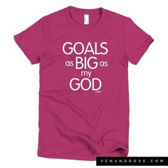 Got Goals ?! Of course you do. We've got some God-sized ones because we know God is able . Just added this new design in a few colors and of course as a tank to the site  venandrose.com #vrcrew  Happy Friday