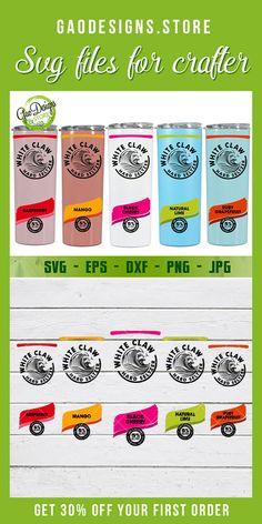 Diy Tumblers, Custom Tumblers, Personalized Tumblers, Vinyl Crafts, Vinyl Projects, Mom Tumbler, Tumbler Cups, Mango Logo, White Claw Hard Seltzer