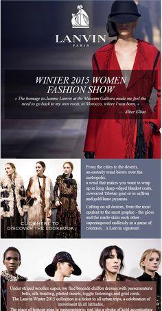 Lanvin Premiere, Women's Winter 2015 Fashion Show