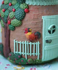 Маленький домик в деревне... мне не давало покоя желание слепить маленькие тыковки и петушка.именно их!я все время думала об этих тыковках,какого они будут…