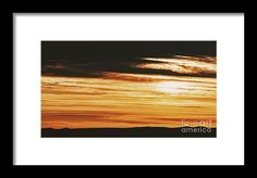Beautiful Sunset Cloudy Sky Over Mountains Framed Print