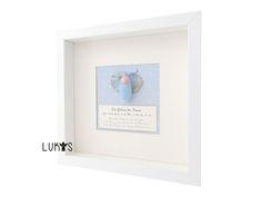 Geschenke zur Geburt, Babygeschenke, Taufgeschenke, Geburtsbild, Geburtsanzeige Baby, Schutzengel Schmetterling blau