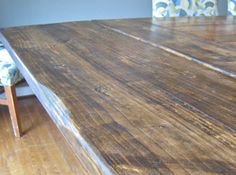 How to make dining room table