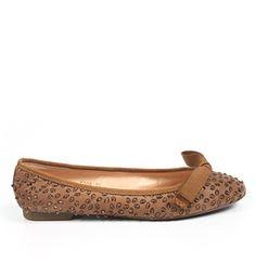 Sweet Ballerina, scarpa bassa pelle marrone donna